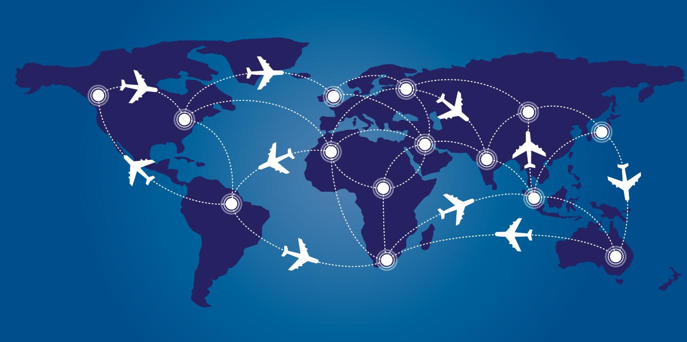 карта перелетов бизнес джетов