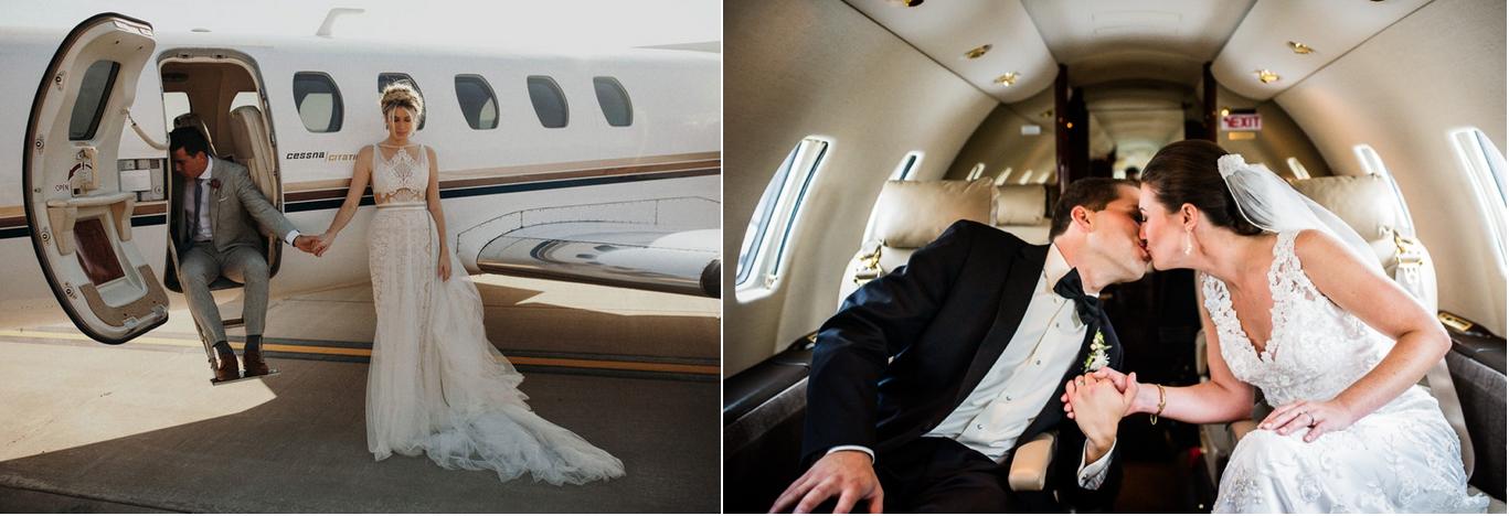 перелет частный самолетом на свадьбу