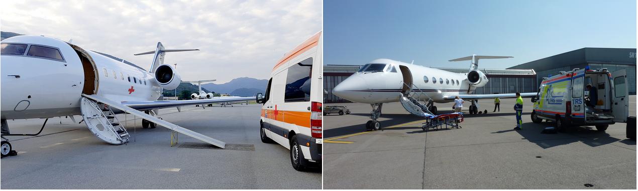 самолет для перевозки лежачего больного
