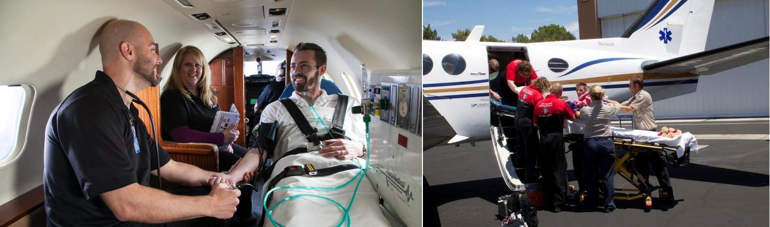 санитарный самолет для транспортировки лежачего больного