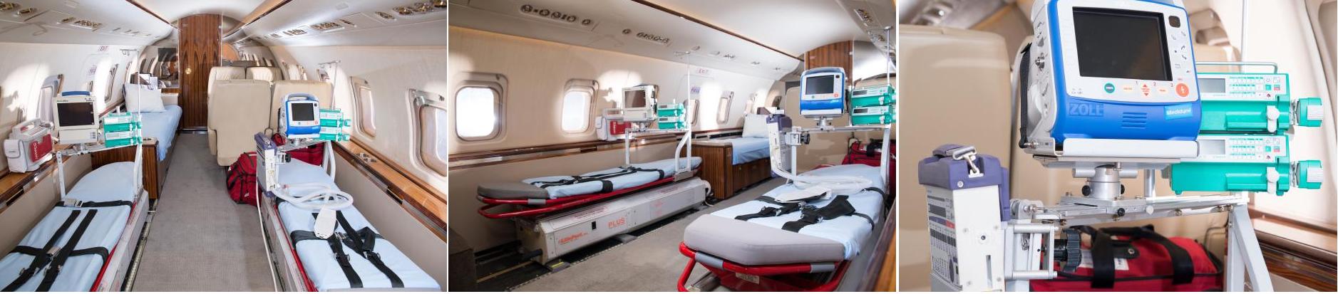 бизнес джет для полета с лежачим больным